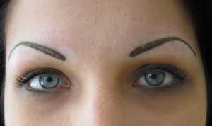 Brows after Full Colour Permanent Cosmetic Procedure