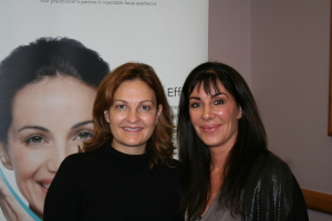 Dr Kate Goldie (Key Opinion Leader) with Jeanette Haynes, Body Benefits at the MERZ Aesthetic Conference, University of Liverpool 2014