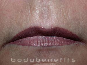 Lips after Permanent Lip Colour